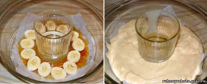 Кекс с бананами в микроволновке