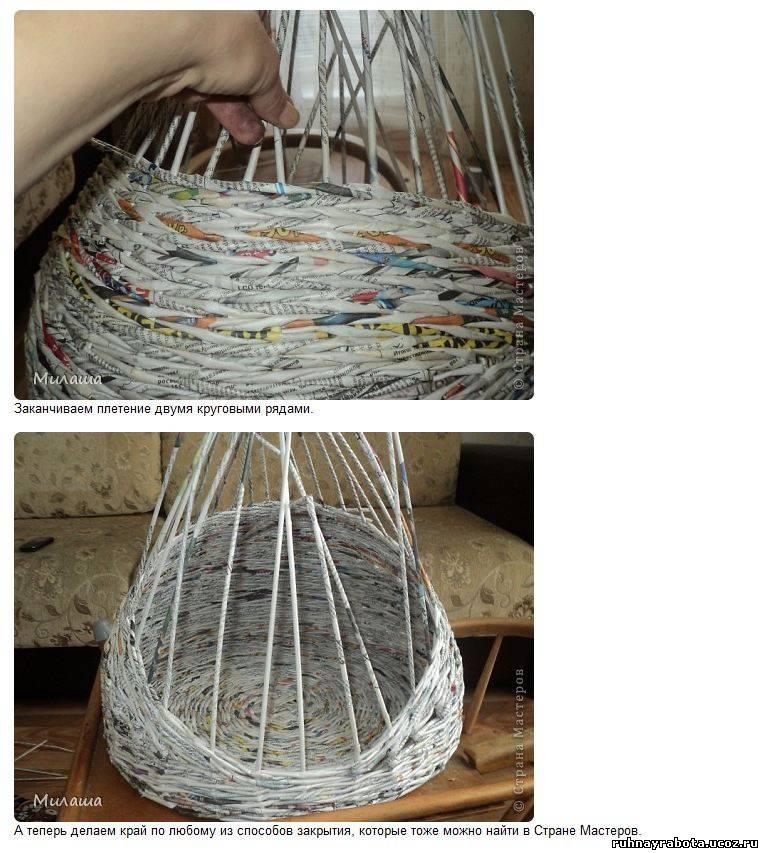 Плетение из газетных трубочек домик на хуторе мастер класс